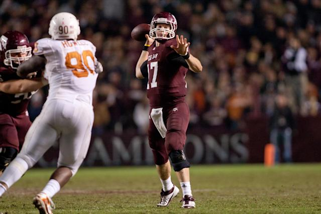 Miami Dolphins QB Ryan Tannehill was the Aggies' QB the last time A&M played Texas. (Getty)