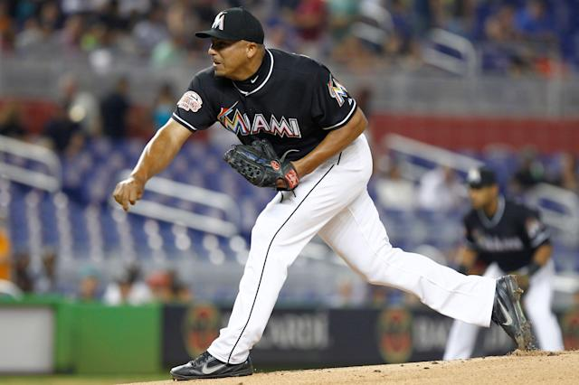 Carlos Zambrano's last stop in the big leagues was with the Marlins in 2012. (AP/J Pat Carter)
