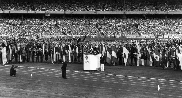 <p>The Duke of Edinburgh launched these games and the opening ceremony included, for the first time ever, a marching band in formation to help introduce the athletes. Runner John Landy, the second man to break a 4-minute mile, took the Olympic Oath. </p>