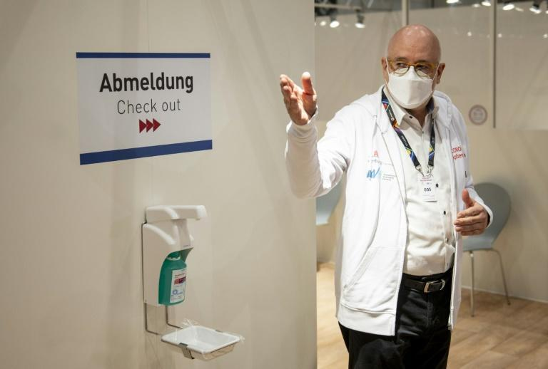 Dirk Heinrich is one of 1,400 doctors who have volunteered to vaccinate Hamburg citizens