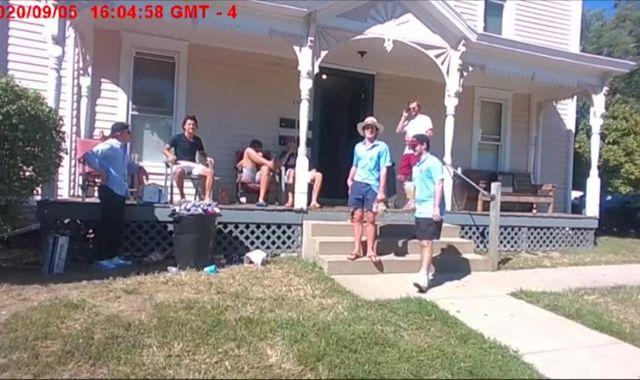 Coronavirus: Ohio student confronted after holding house party where everyone has tested positive for virus