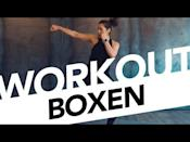 """<ul><li><strong>Equipment:</strong> None</li></ul><p>Combine basic boxing movements with cardio exercises that get your heart rate up in this short, efficient boxing workout. </p><p><a href=""""https://www.youtube.com/watch?v=gicjbXCZzgs&ab_channel=FITSEVENELEVEN"""" rel=""""nofollow noopener"""" target=""""_blank"""" data-ylk=""""slk:See the original post on Youtube"""" class=""""link rapid-noclick-resp"""">See the original post on Youtube</a></p>"""