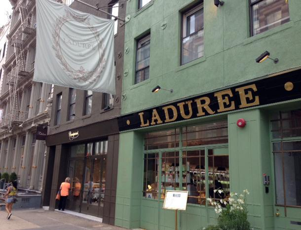 The store front of French macaron-maker Laduree is seen on July 23, 2014 in New York