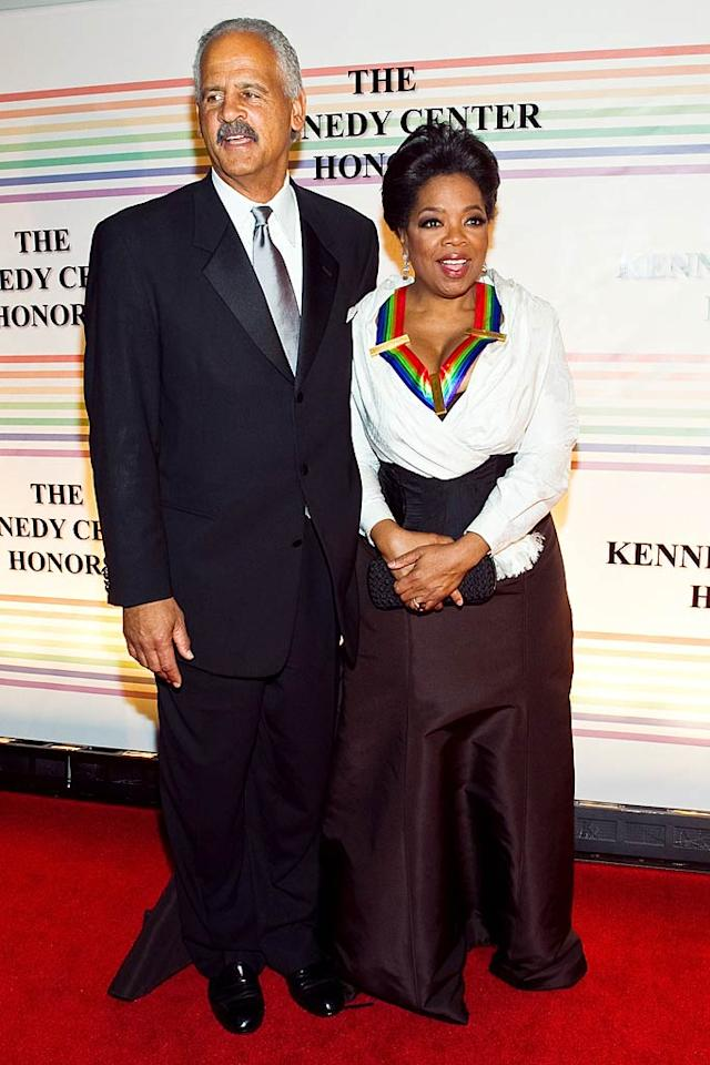 """The five men and women -- including Oprah, who walked the red carpet with her longtime beau Stedman Graham -- were chosen to receive this year's Honors for giving """"the nation the extraordinary gift of the arts,"""" said President Barack Obama in his introductory speech. Paul Morigi/<a href=""""http://www.wireimage.com"""" target=""""new"""">WireImage.com</a> - December 5, 2010"""