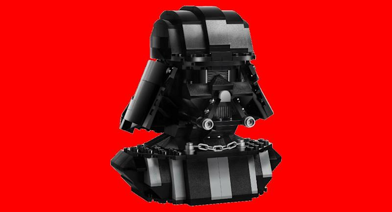 5571245cd Embrace the Power of the Dark Side With This Epic Lego Darth Vader Bust