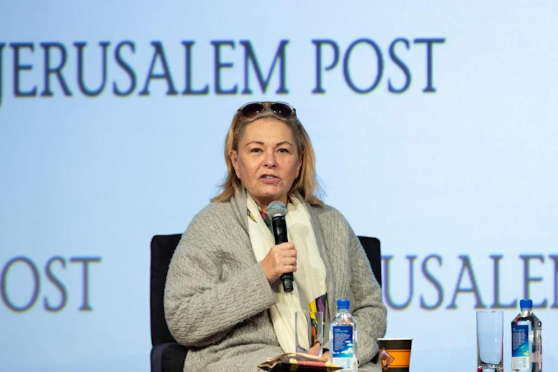 Roseanne Barr speaks at the Jerusalem Post Conference in New York City on April 29, 2018. (Photo: Lev Radin/Pacific Press/LightRocket via Getty Images)