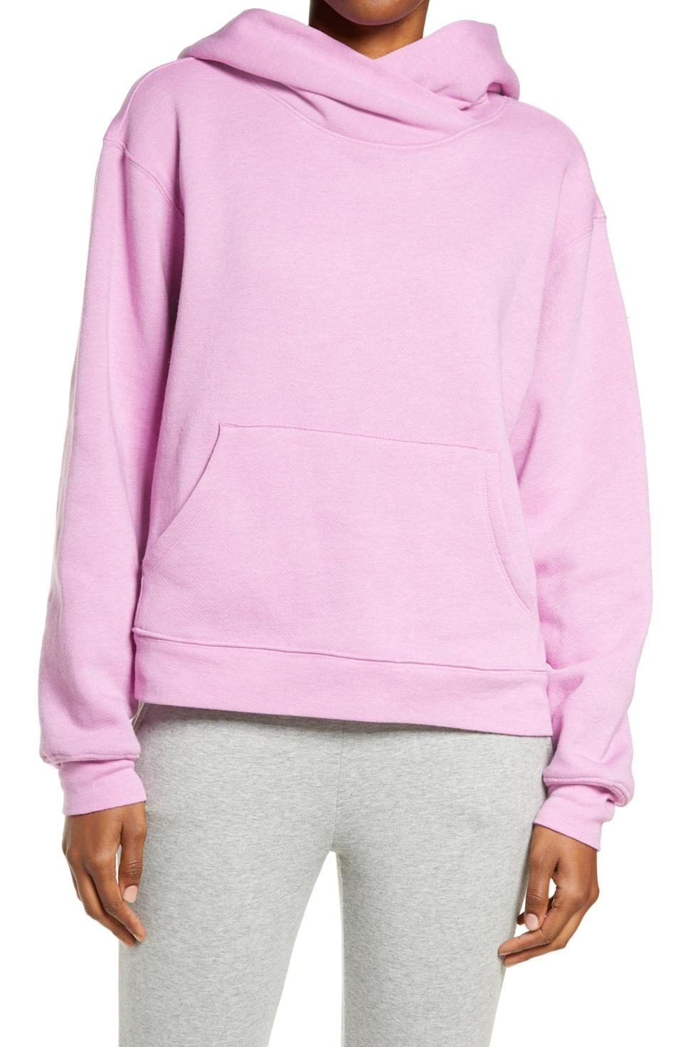 Zella Cali Fleece Hooded Sweatshirt. Image via Nordstrom.