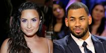 """<p><a href=""""https://www.eonline.com/news/1073304/demi-lovato-and-bachelorette-star-mike-johnson-are-getting-to-know-each-other"""" rel=""""nofollow noopener"""" target=""""_blank"""" data-ylk=""""slk:E! News"""" class=""""link rapid-noclick-resp"""">E! News</a> reported in September that Lovato had gone on a date with former <em>Bachelorette </em>contestant Mike Johnson. <a href=""""https://www.elle.com/culture/celebrities/a29112784/demi-lovato-mike-johnson-relationship-details/"""" rel=""""nofollow noopener"""" target=""""_blank"""" data-ylk=""""slk:Their fling"""" class=""""link rapid-noclick-resp"""">Their fling</a> came after Lovato expressed interest in Johnson via her Instagram story. A source told <a href=""""https://www.eonline.com/news/1074456/all-the-details-on-demi-lovato-and-mike-johnson-s-budding-romance-and-instant-connection"""" rel=""""nofollow noopener"""" target=""""_blank"""" data-ylk=""""slk:E!"""" class=""""link rapid-noclick-resp"""">E!</a> that Lovato """"has always had a huge crush on Mike and once they met in person, there was an instant connection.""""</p><p>A few weeks later, Johnson <a href=""""https://www.elle.com/culture/celebrities/a29319796/mike-johnson-demi-lovato-kissing-interview/"""" rel=""""nofollow noopener"""" target=""""_blank"""" data-ylk=""""slk:kissed and told"""" class=""""link rapid-noclick-resp"""">kissed and told</a> on iHeartRadio's <em>Almost Famous</em> podcast saying Lovato """"kisses really well."""" But despite Johnson's excitement in October 2019, <em><a href=""""https://people.com/tv/mike-johnson-asks-keke-palmer-out-on-a-date-after-romance-demi-lovato/"""" rel=""""nofollow noopener"""" target=""""_blank"""" data-ylk=""""slk:People"""" class=""""link rapid-noclick-resp"""">People</a> </em>confirmed the couple's <a href=""""https://www.elle.com/culture/celebrities/a29466322/mike-johnson-demi-lovato-break-up/"""" rel=""""nofollow noopener"""" target=""""_blank"""" data-ylk=""""slk:break up"""" class=""""link rapid-noclick-resp"""">break up</a>, which coincided with him asking Keke Palmer out during his appearance on <em>Strahan Sara </em><em>and Keke</em>. (She politely declined.) <a href=""""https://w"""