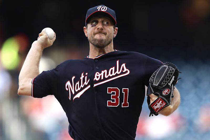 Starting pitcher Max Scherzer of the Washington Nationals