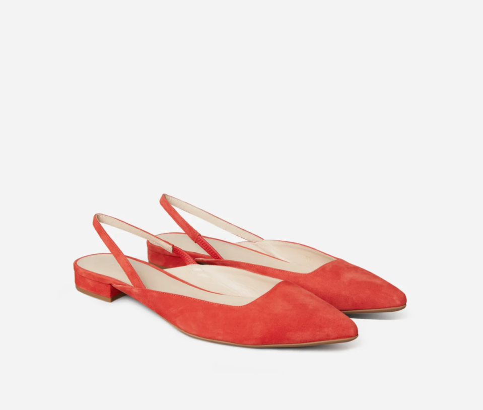 The Editor Slingback in Persimmon.