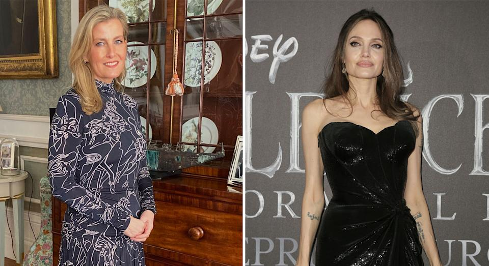 The Countess of Wessex said she took inspiration from Angelina Jolie. (Royal Family/Getty)