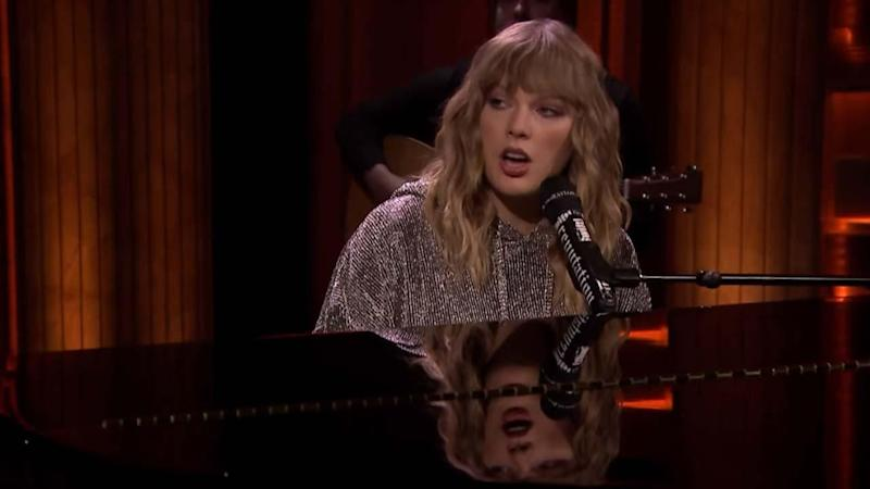 Taylor Swift Makes a Surprise 'Tonight Show' Appearance to Welcome Back an Emotional Jimmy Fallon
