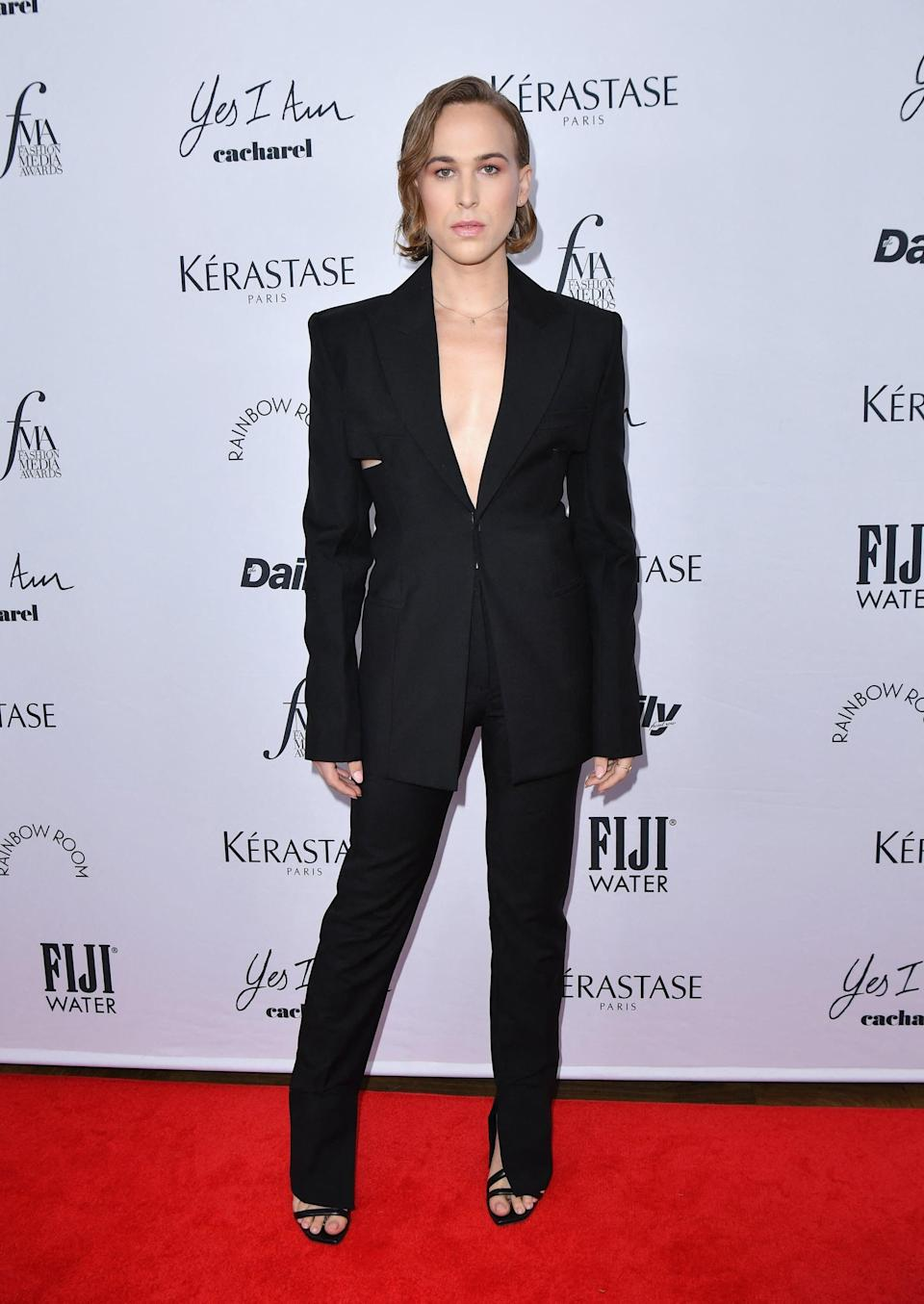 <p>Tommy took a quick NYFW break to stop by the Daily Front Row's Fashion Media Awards on Sept. 9.</p>