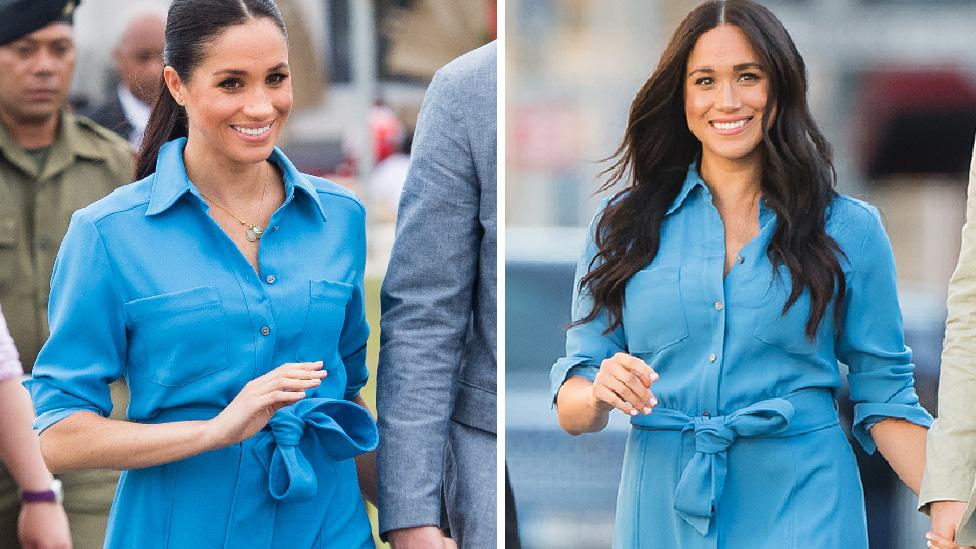 Some old favourites recycled, and some brand new looks. Swipe through to see what the Duchess of Sussex is wearing in Africa.