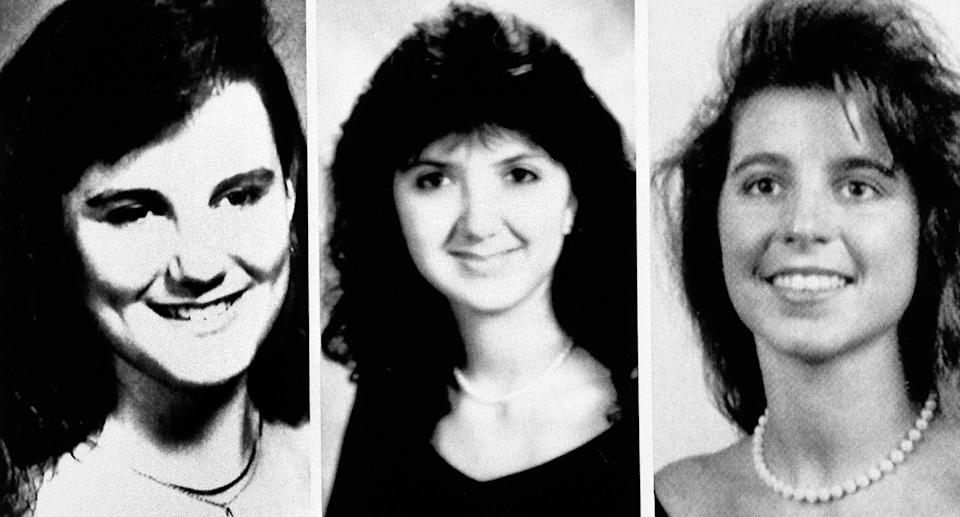 Christina Powell, Christa Leigh Hoyt, and Sonya Larson were killed in August 1990 by Rolling. Source: AP