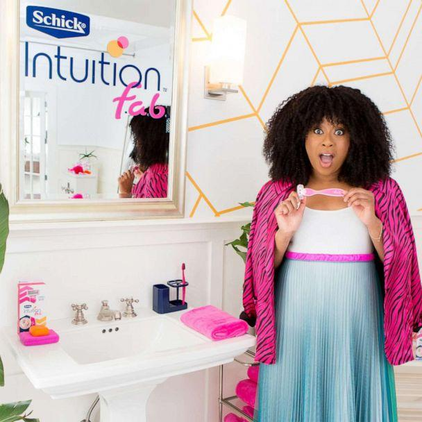 PHOTO: Phoebe Robinson on set of her campaign shoot for Schick Intuition f.a.b. (Schick Intuition)
