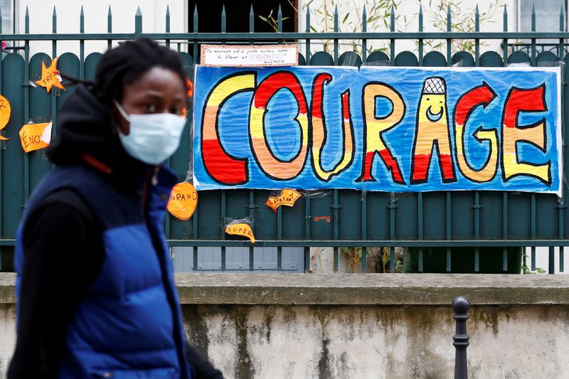 FILE PHOTO: Lockdown imposed to slow the rate of the coronavirus disease (COVID-19) in Paris