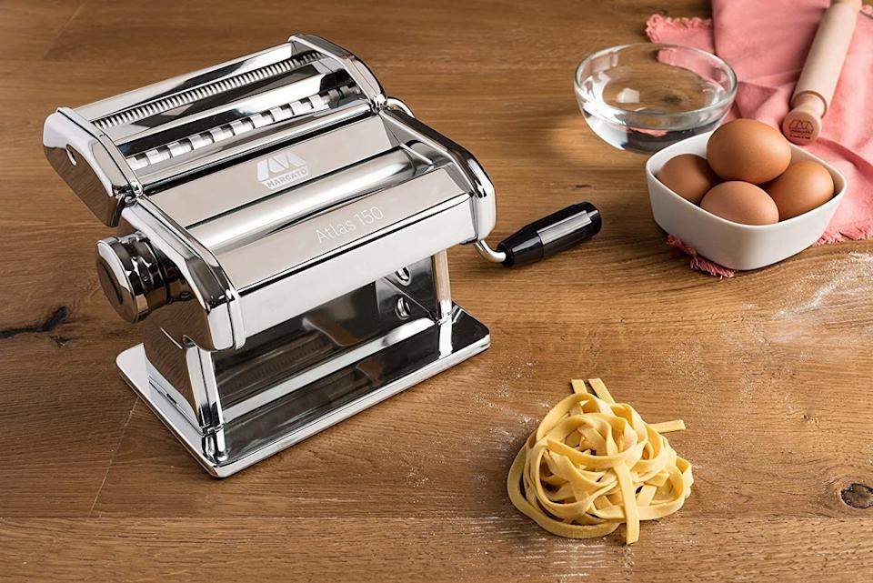"""You've never known pasta until you've handmade it yourself. Once you try it, you may never go back.<br /><br /><strong>Promising review:</strong>""""Words cannot truly express how much I love this machine. It has changed my life.<strong>I had never made fresh pasta before and now that I have the Atlas 150, my family and I make fresh pasta or ravioli several times a week.</strong>We are never going back to boxed pre-made pasta again. The machine is easy to use, easy to clean — just wipe it down with a damp cloth and dry it, and you can tell it is well made."""" —<a href=""""https://www.amazon.com/dp/B0009U5OSO?tag=huffpost-bfsyndication-20&ascsubtag=5890048%2C18%2C36%2Cd%2C0%2C0%2C0%2C962%3A1%3B901%3A2%3B900%3A2%3B974%3A3%3B975%3A2%3B982%3A2%2C16492497%2C0"""" target=""""_blank"""" rel=""""noopener noreferrer"""">Ashley Coley<br /></a><br /><strong>Get it from Amazon for<a href=""""https://www.amazon.com/dp/B0009U5OSO?tag=huffpost-bfsyndication-20&ascsubtag=5890048%2C18%2C36%2Cd%2C0%2C0%2C0%2C962%3A1%3B901%3A2%3B900%3A2%3B974%3A3%3B975%3A2%3B982%3A2%2C16492497%2C0"""" target=""""_blank"""" rel=""""noopener noreferrer"""">$84.95</a>.</strong>"""