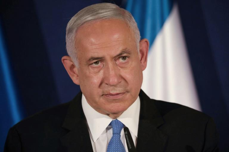 Israeli Prime Minister Benjamin Netanyahu, seen in March 2021, had largely refrained from criticizing US President Joe Biden until the restoration of aid to the UN agency for Palestinian refugees