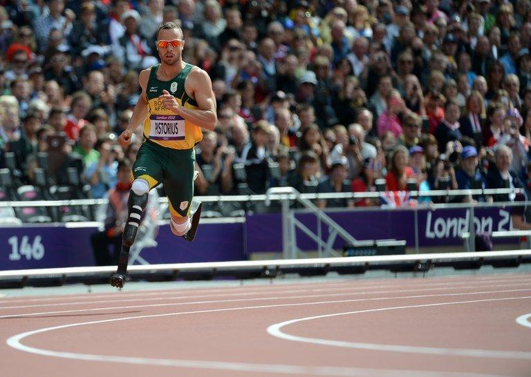 South Africa's Oscar Pistorius competes in the men's 400m heats at the London 2012 Olympics on August 4, 2012