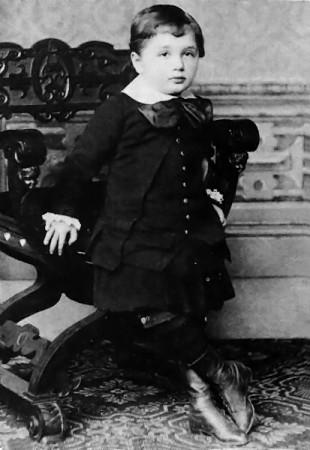 Einstein at the age of 3 in 1882