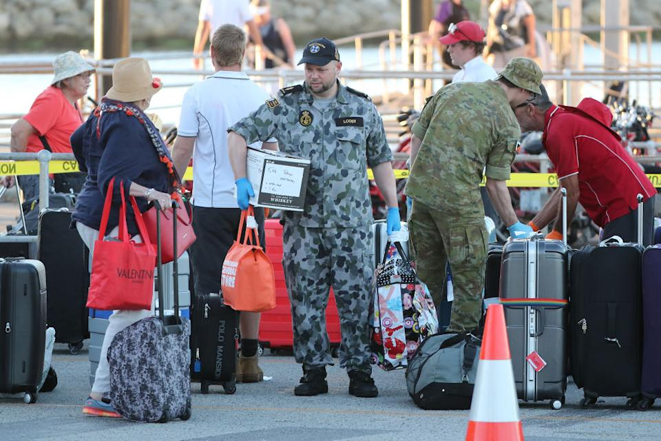 Cruise ship passengers taken to Rottnest Island in April for quarantine. Source: Getty