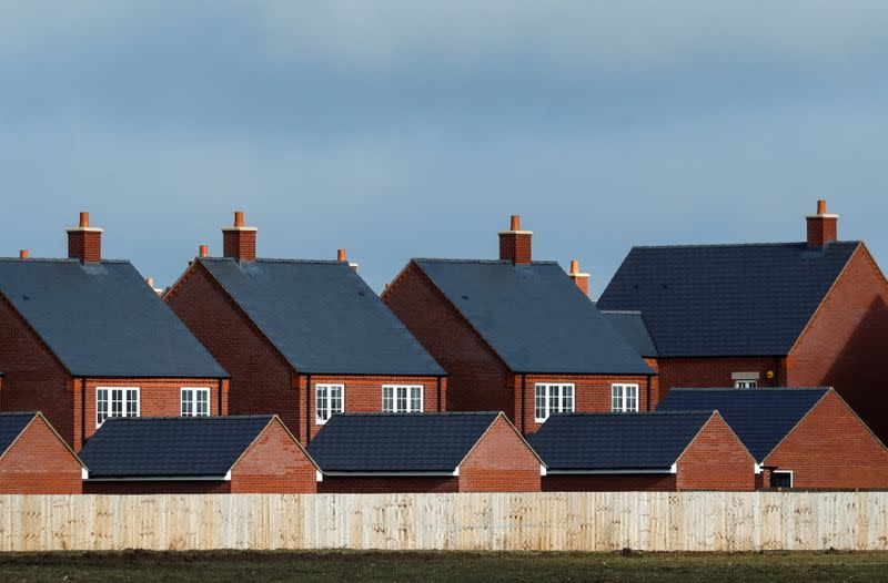FILE PHOTO: New residential homes are seen at a housing estate in Aylesbury