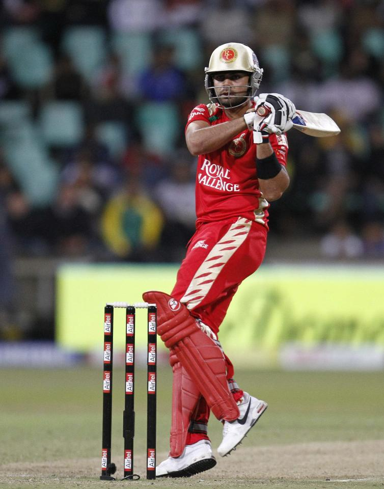 DURBAN, SOUTH AFRICA - SEPTEMBER 24,  Virat Kohli during the Airtel Champions League Twenty20 semifinal match between Chennai Super Kings and Royal Challengers Bangalore at Sahara Stadium Kingsmead on September 24, 2010 in Durban, South Africa.   (Photo by Anesh Debiky/Gallo Images/Getty Images)
