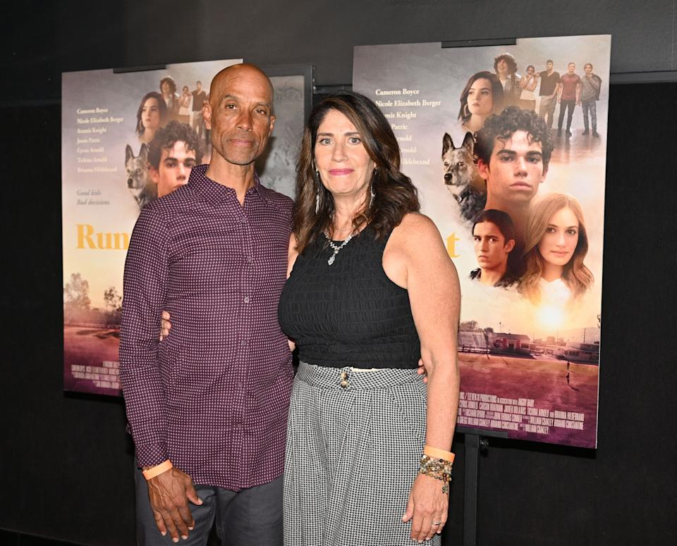 Victor Boyce and Libby Boyce, parents of the late cast member Cameron Boyce, attend the premiere of