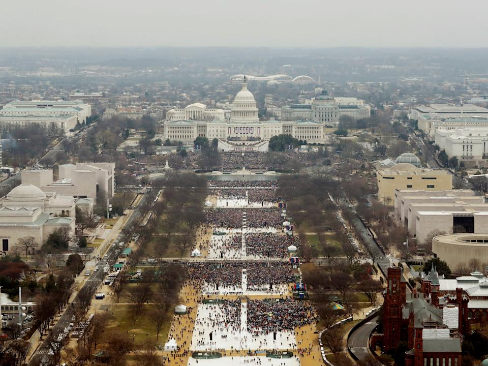 Donald Trump's inauguration as the 45th president of the United States at the US Capitol in Washington DC, 20 January, 2017Reuters