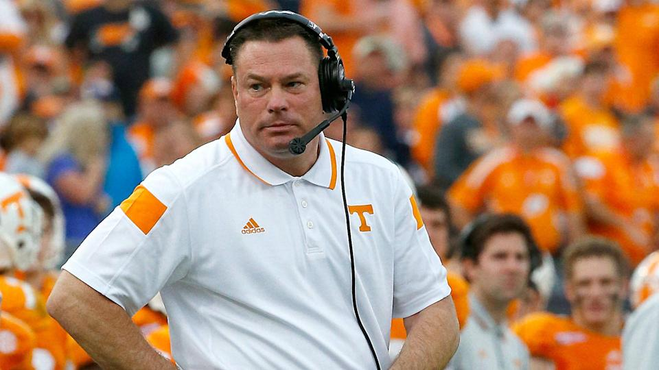 Butch Jones didn't work out at Tennessee, accumulating a record of 34-27. (Getty)