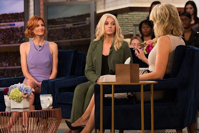 Bailey Davis, center, and Sara Blackwell on <em>Megyn Kelly Today</em> in March. (Photo: Nathan Congleton/NBC/NBCU Photo Bank via Getty Images)