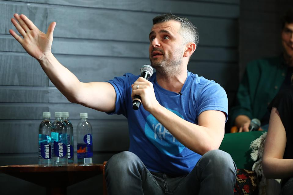 AUSTIN, TX - MARCH 10:  Gary Vaynerchuk speaks onstage at the Sound Ventures Tech Competition, PerfectPitch, at SXSW at Hotel Van Zandt on March 10, 2018 in Austin, Texas.  (Photo by Joe Scarnici/Getty Images for Sound )