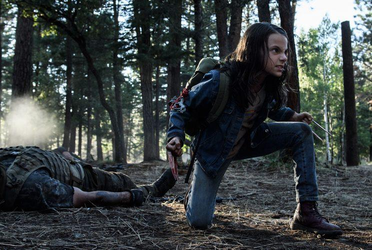 Dafne Keen as Laura in 'Logan' (Credit: 20th Century Fox)
