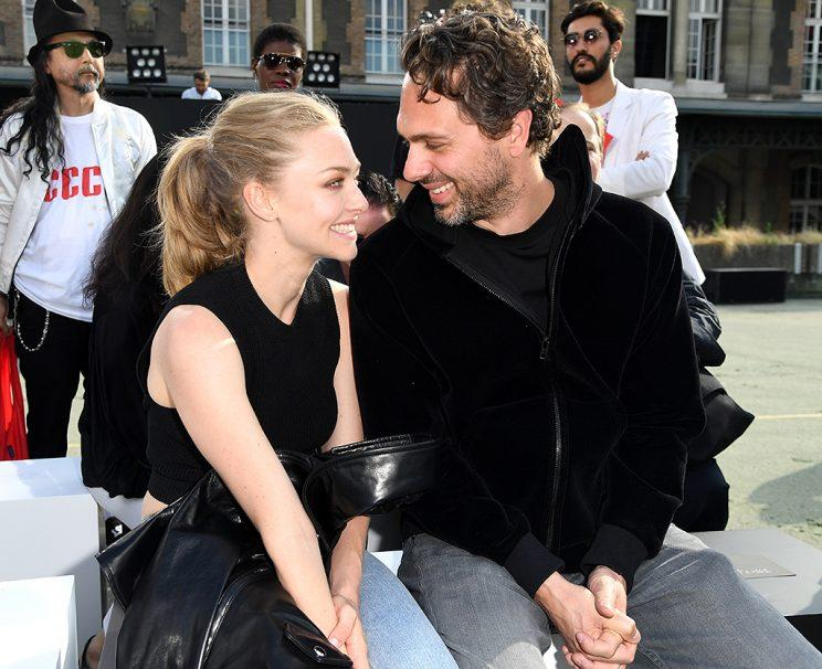 PARIS, FRANCE - JUNE 24: Amanda Seyfried and Thomas Sadoski attend the Givenchy Menswear Spring/Summer 2017 show as part of Paris Fashion Week on June 24, 2016 in Paris, France. (Photo by Pascal Le Segretain/Getty Images)