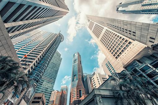 Buildings in Singapore CBD during the day