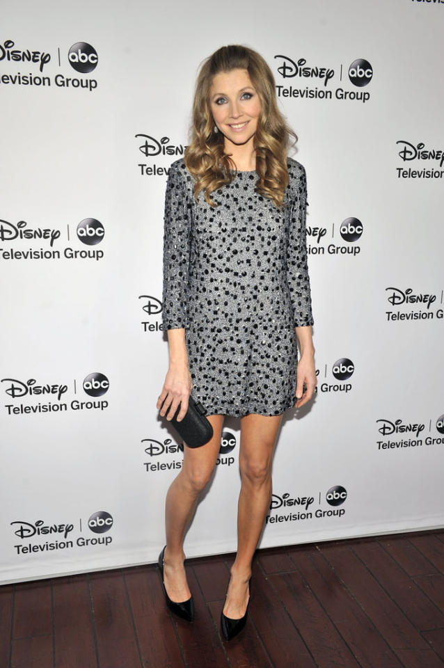 Sarah Chalke attends the Disney ABC Television Group 2013 TCA Winter Press Tour at The Langham Huntington Hotel and Spa on January 10, 2013 in Pasadena, California.