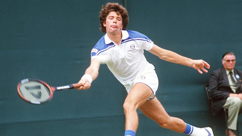 Jimmy Arias, pictured here at Wimbledon in his heyday.