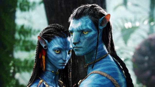 Zoe Saldana and Sam Worthington in 'Avatar'. (Credit: Fox)
