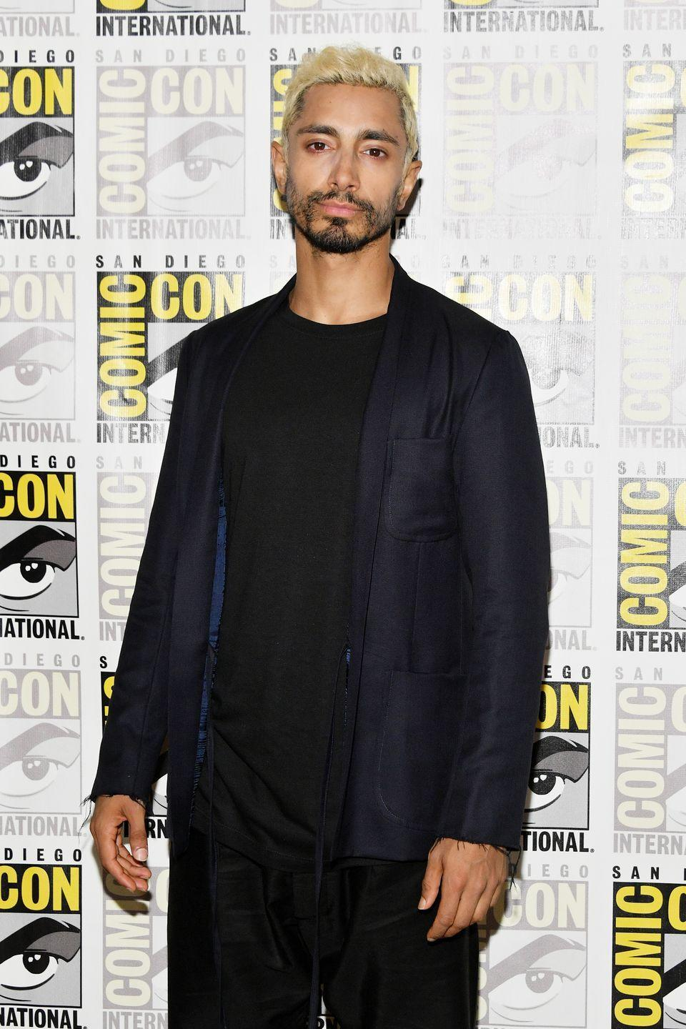 <p><strong>Blonde</strong></p><p>Although the platinum blond hair might look a <em>tad </em>too brassy for the <em>Rogue One </em>star's skin tone, Ahmed looks really good rocking the trend!</p>