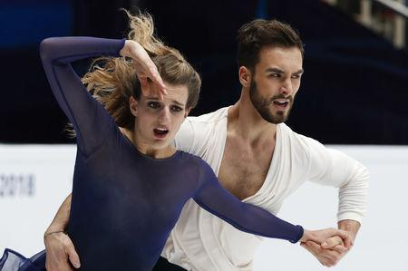 Figure Skating - ISU European Championships 2018 - Ice Dance Free Dance - Moscow, Russia - January 20, 2018 - Gabriella Papadakis and Guillaume Cizeron of France compete. REUTERS/Grigory Dukor