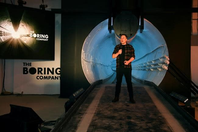 Las Vegas Backs Elon Musk's $49 Million Underground Transit System