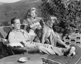 """<p>Lauren Bacall and Humphrey Bogart got married on their friend Louis Bromfield's farm in Lucas, Ohio in 1945. That same year, they adopted their Boxer, Harvey. The couple received <a href=""""https://www.anothermag.com/design-living/2127/humphrey-bogart-lauren-bacalls-boxers"""" rel=""""nofollow noopener"""" target=""""_blank"""" data-ylk=""""slk:Harvey as a wedding present from a friend."""" class=""""link rapid-noclick-resp"""">Harvey as a wedding present from a friend.</a> Harvey died only six months after Bogart passed away from lung cancer in 1957. </p>"""