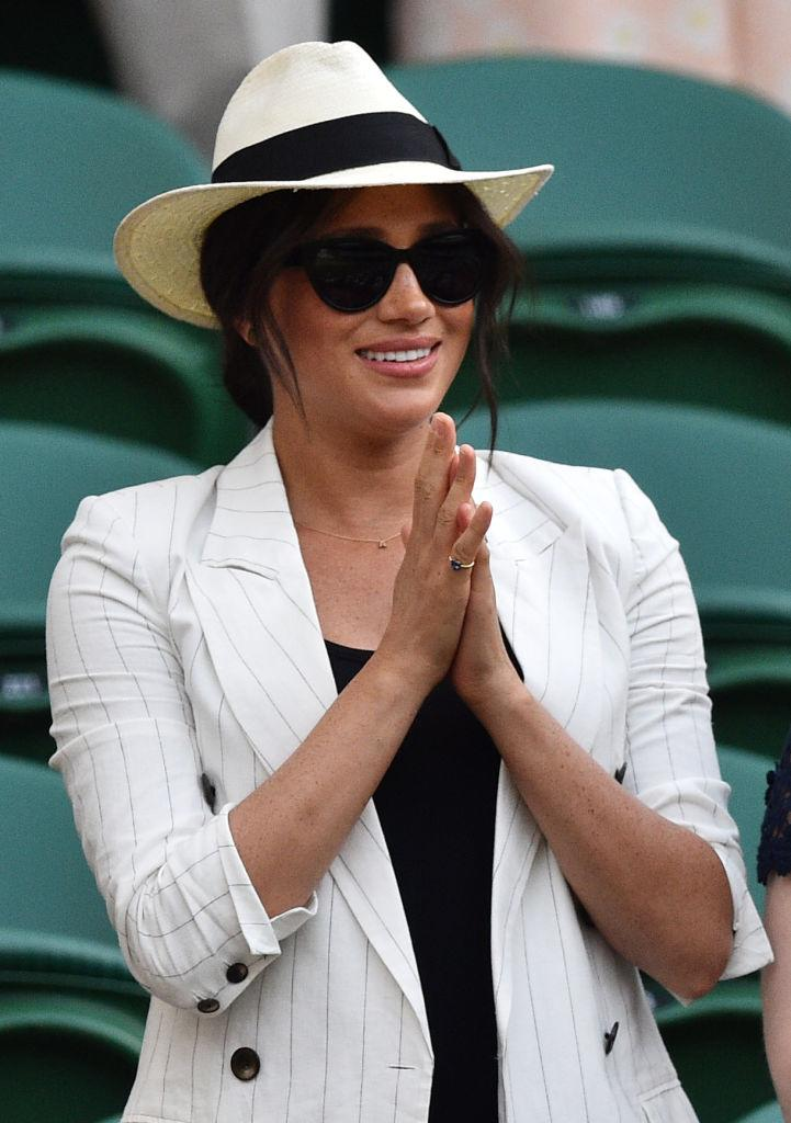 The Duchess of Sussex made a surprise appearance at Wimbledon last week [Photo: Getty]