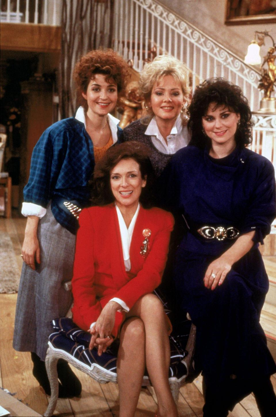 """Annie Potts, left, Dixie Carter, Jean Smart and Delta Burke were the female foursome of """"Designing Women."""""""