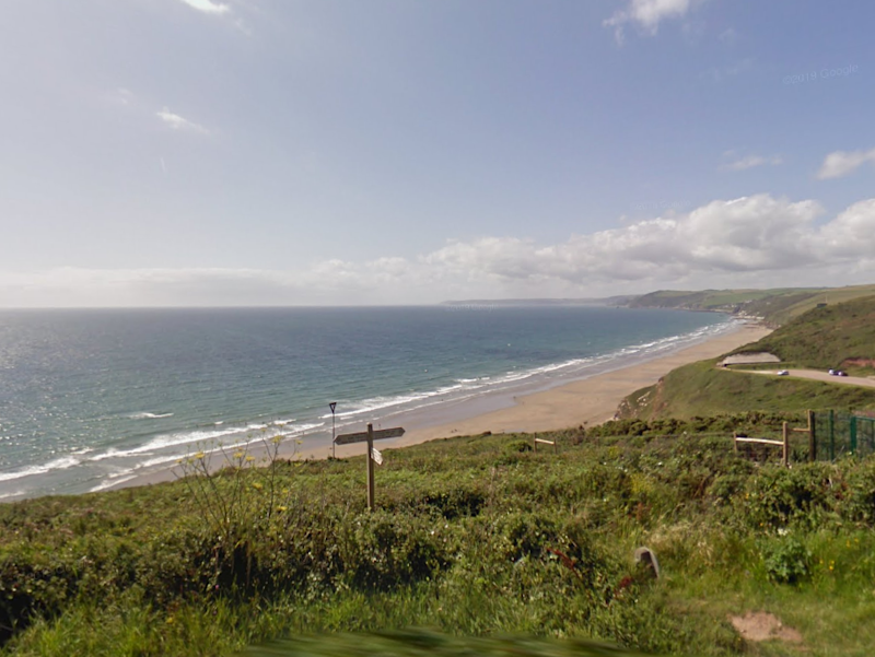A marine recruit has died after being hospitalised during training exercise at Tregantle beach: Google Maps