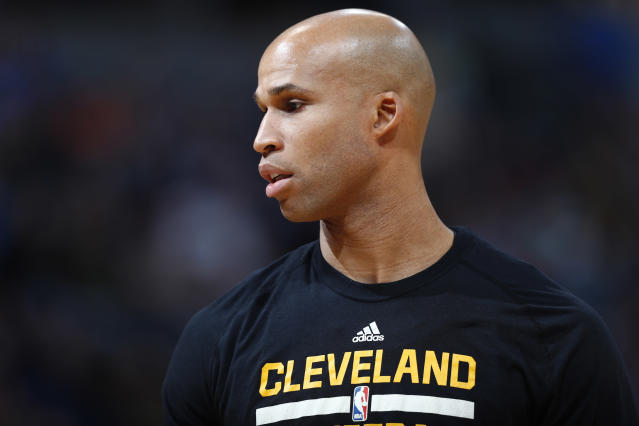 "Forward <a class=""link rapid-noclick-resp"" href=""/nba/players/3523/"" data-ylk=""slk:Richard Jefferson"">Richard Jefferson</a> is signing a one-year deal with the <a class=""link rapid-noclick-resp"" href=""/nba/teams/den/"" data-ylk=""slk:Denver Nuggets"">Denver Nuggets</a>. (AP)"
