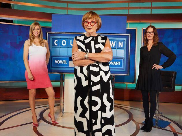 Anne Robinson with Countdown stars Rachel Riley and Susie Dent (Photo: Channel 4)