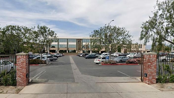"""Grace Community Church in Sun Valley has held weekly Sunday services since July 26, in defiance of state and county health orders prohibiting indoor worship services. <span class=""""copyright"""">(Google Maps)</span>"""