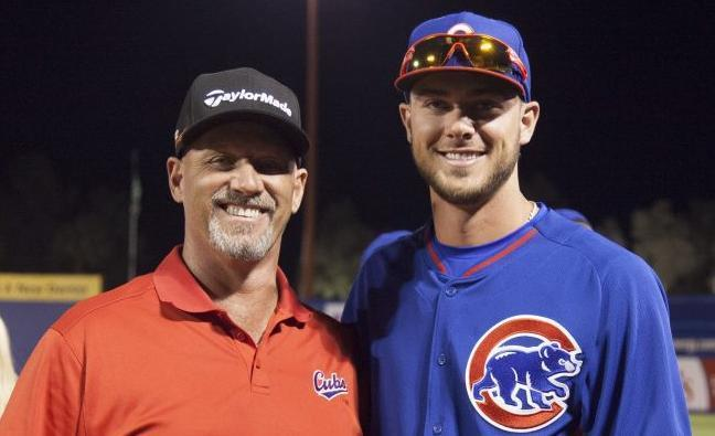 Mike and Kris Bryant have a great father-son relationship. (AP)